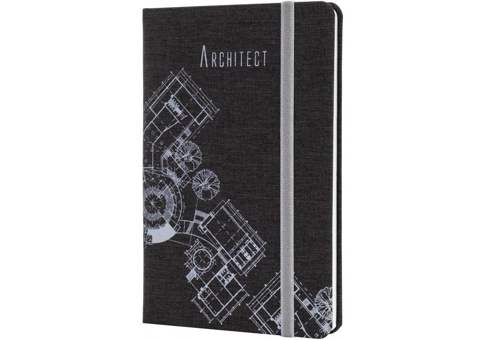 Купить Деловая записная книжка Architect коричневый, А5, твердая обложка текстиль, резинка, блок клетка, $Цена Деловая записная книжка Architect коричневый, А5, твердая обложка текстиль, резинка, блок клетка ⚡Интернет магазин Папирус