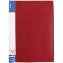 Папка-скоросшиватель А4 пластиковая CLIP А, красная