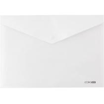 Папка-конверт А4 прозрачная на кнопке, белая (непрозрачная)