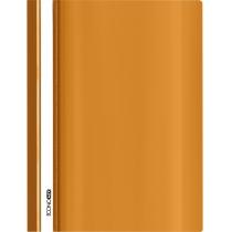 Папка-скоросшиватель глянцевые А4 без перфорации оранжевая