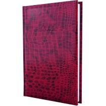 Ежедневник датированный, CROCO, красный, А5