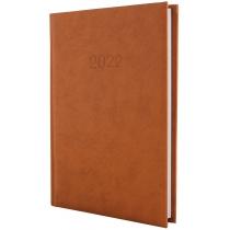 Ежедневник датированный 2020 ALGORA, коричневый, А5