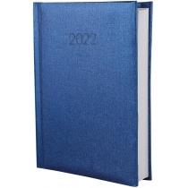 Ежедневник датированный 2020, ТЕКСТИЛЬ, синий, А5