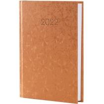 Щоденник датований 2019, КВІТИ, золото, А6