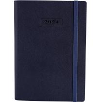 Ежедневник датированный 2019, CROSS , синий, А,  мягкая обложка с резинкой