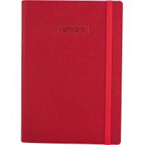 Ежедневник датированный 2020, CROSS , красный, А5, мягкая обложка с резинкой