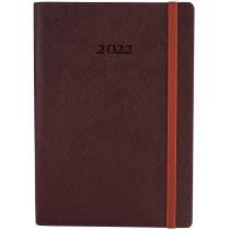 Ежедневник датированный 2019, CROSS , шоколад, А5, мягкая обложка с резинкой