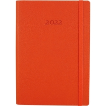 Ежедневник датированный 2020, CROSS , оранжевый, А5, мягкая обложка с резинкой