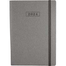 Ежедневник датированный 2020, CROSS , серебро, А5, мягкая обложка с резинкой