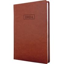 Ежедневник датированный, NEBRASKA , коричневый, А5, обложка без паролона