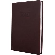 Ежедневник датированный 2019, NEBRASKA , темно-коричневый, А5, обложка без паролона