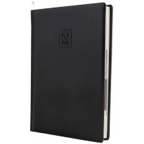 Ежедневник датированный 2019, CAPRICE, черный, кремовый блок, А5