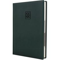 Ежедневник датированный 2020, CAPRICE, зеленый, кремовый блок, А5