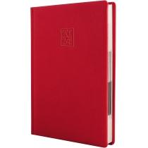 Ежедневник датированный 2019, ARMONIA, красный, кремовый блок, А5