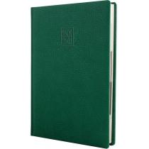 Ежедневник датированный 2020, ARMONIA, зеленый, кремовый блок, А5