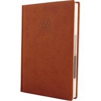 Ежедневник датированный 2020, ARMONIA, коричневый, кремовый блок, А5
