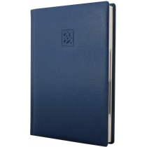 Ежедневник датированный 2019, LIZARD, синий, кремовый блок,А5