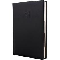 Ежедневник датированный 2020, LIZARD, черный, кремовый блок,А5