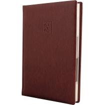 Ежедневник датированный 2019, LIZARD, коричневый, кремовый блок,А5