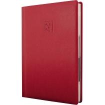 Ежедневник датированный 2020, LIZARD, красный, кремовый блок,А5