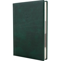 Ежедневник датированный 2020, FANTASY, зеленый, кремовый блок,А5