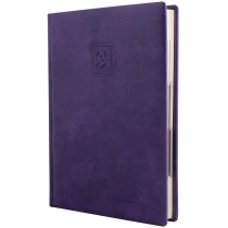 Ежедневник датированный 2020, FANTASY, фиолетовый, кремовый блок,А5