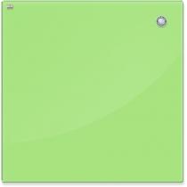 Дошка скляна магнітна для письма маркером, світло-зелений колір, 45х45 см.