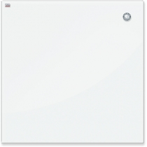 Дошка скляна магнітна для письма маркером, білий колір, 100х100 см