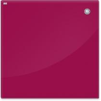 Дошка скляна магнітна для письма маркером, червоний колір, 40х60 см