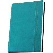 Деловая записная книжка VIVELLA, А6, мягкая обложка, резинка, белый блок линия, бирюзовый