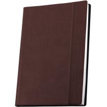 Деловой блокнот Vivella А5 , на резинке , коричневая