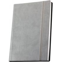 Деловая записная книжка А5  с резинкой ,  Vivella, цвет обложки - серый