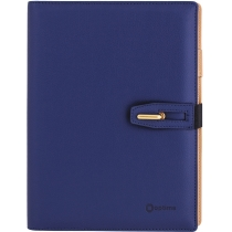 Бізнес-організатор з застібкою, 185 *235 мм, на кільцях, синій, папір 80 г/м2, кремовий