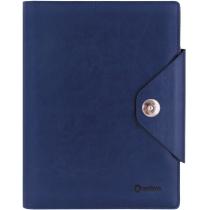 Бізнес-організатор на кнопці, 185 *235 мм, на кільцях, синій, папір 80 г/м2, кремовий