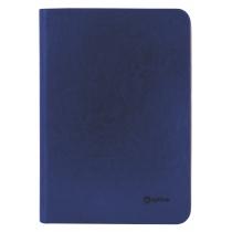 Бизнес-организатор на молнии, 184 * 269 мм, на кольцах, синий, бумага 80 г/м2, кремовый