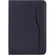 Бизнес-организатор на молнии, 184 * 260 мм, на кольцах, синий, бумага 80 г/м2, кремовый