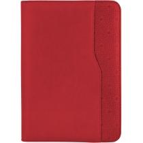 Бизнес-организатор на молнии, 184 * 260 мм, на кольцах, красный, бумага 80 г/м2, кремовый