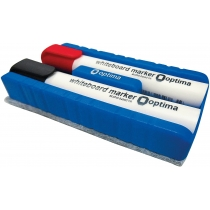 Набор маркеров для белых досок с губкой Optima