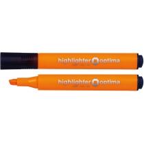 Маркер текстовый триугольный Optima оранжевый