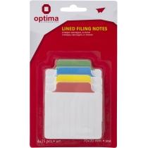 Стікери-закладка Optima, в лінію 70х70 мм, 4 кольори, 100 арк.