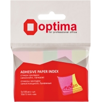Стікери-закладки Optima, 50x15, 5 кольорів,500 шт.