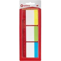 Стікери-розділювачі Optima, 38x50, 3 кольори, 30 шт.