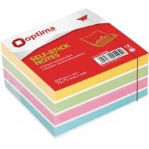 Стикеры Optima, 75x75, 4 цвета, 400 лист
