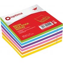 Стікери Optima, 75x75, 4 кольори, 400 арк.