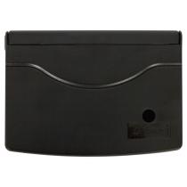 Подушка штемпельная настольная 70х110 мм, черная