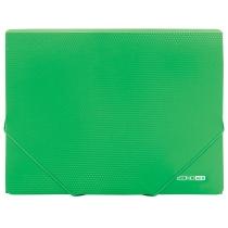 Папка А4 пластиковая на резинках, зеленая