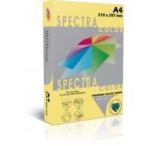 Бумага цветная SINAR SPECTRA А4, 160 г/м2 250 л, пастель, желтая