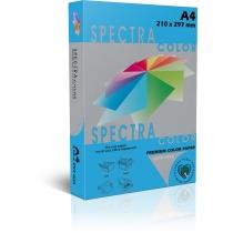 Бумага цветная SINAR SPECTRA, А4, 160 г/м2, 250 л, интенсив, синяя