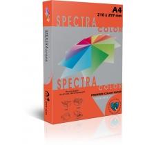 Бумага цветная SINAR SPECTRA А4 160 г/м2, 250 л, інтенсив, красная