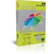 Бумага цветная SINAR SPECTRA, А4, 155 г/м2, 500 л, неон, желтая